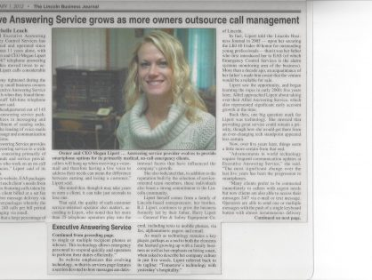 Executive Answering Service grows as more owners outsource call management 2012